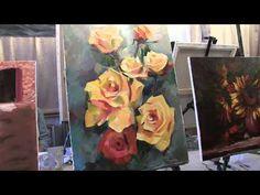 Как нарисовать розы. Видео урок.