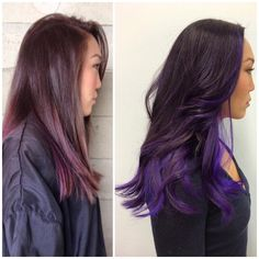 Brown to purple ombré