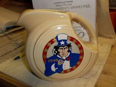 Fiesta® SMALL DISC PITCHER HLCCA 2008 Uncle Sam Wants You - Homer Laughlin China | eBay