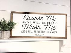 "Items similar to ""Cleanse Me, Wash Me"" / Farmhouse Style / Rustic / Home Decor / Hand painted / Wood sign / Gifts / Laundry Room on Etsy Wash Me Cleanse Me, Farmhouse Style, Laundry, Laundry. Laundry Decor, Laundry Room Bathroom, Laundry Room Signs, Farmhouse Laundry Room, Laundry Room Organization, Farmhouse Style, Laundry Rooms, Bathroom Signs, Bathrooms"
