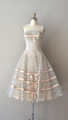 The Little Coquette dress / lace 1950s dress / by DearGolden