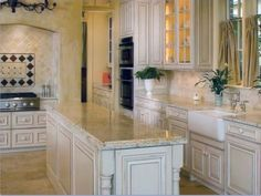 Colonial Gold Granite Countertops Ivory Kitchen | Counters On Pinterest