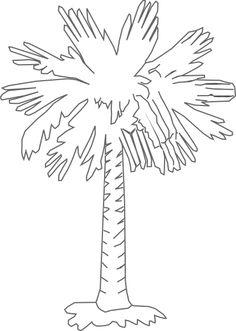 South Carolina Palmetto Logo | Palmetto Tree Clear clip art