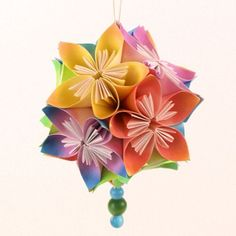 Kusudama Flowers Tutorial -- I've made these of varying sizes and from various papers. They're always striking. Paper Folding Crafts, Cardboard Crafts, Paper Crafts, Diy Crafts, Origami Tutorial, Flower Tutorial, Tissue Paper Flowers, Diy Flowers, Real Flowers
