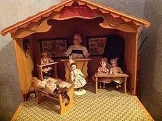 Wonderful 'Ecole' French Classroom, Fold Down Front - Dolls of Chester Springs #dollshopsunited