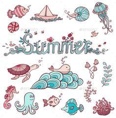 Sea Doodle Elements
