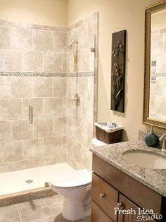 Shower Designs For Small Bathrooms stylish 3/4 bathroom. #bathrooms #bathroomdesigns homechanneltv