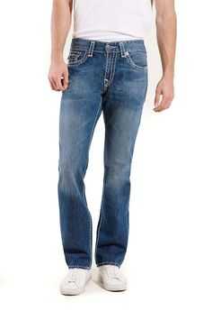 True Religion Men's Ricky Super T Flap Pocket Relaxed Straight Jean Size 42 NWT #TrueReligion #ClassicStraightLeg