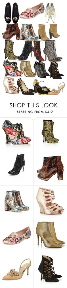 """""""Mary Stuart Shoes"""" by taught-to-fly19 ❤ liked on Polyvore featuring Dolce&Gabbana, Oscar de la Renta, RED Valentino, Carven, Nicholas Kirkwood, Marni, Alexander McQueen, See by Chloé, Brian Atwood and René Caovilla"""