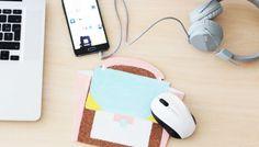 DIY déco : un tapis de souris sac à main