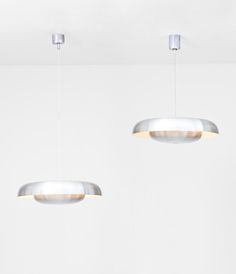 Pirro Cuniberti; Brushed Aluminum Ceiling Lights for Sirrah, 1972.