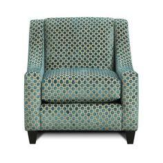 Accent Chair in Velvet Geo Turquoise | Nebraska Furniture Mart