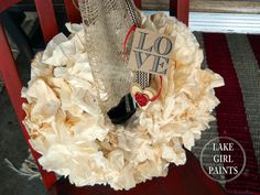 I love free. I love handmade. Here is a super cheap way to make a wreath form and coffee filter wreath that has great volume. Plus, you can decorate it for any…