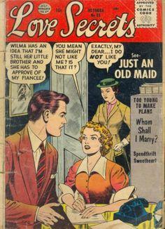'Love Secrets' romance comic cover series
