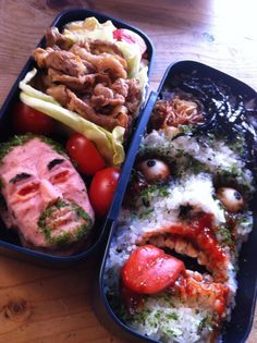 zombie lunch - I told my husband I am going to make one of these to put in the fridge at work I need to find a good Tupperware with a clear lid