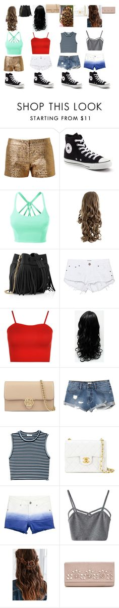 """""""Evie,Yidi,Erin,Isabeau"""" by weighty123 ❤ liked on Polyvore featuring Lanvin, Converse, LE3NO, Whistles, One Teaspoon, WearAll, Gucci, RVCA, A.L.C. and Chanel"""