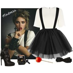 Madonna - 80's Icon by smylin on Polyvore featuring moda, True Decadence, Yves Saint Laurent, Valentino, Fendi, Orduna Design and CA4LA