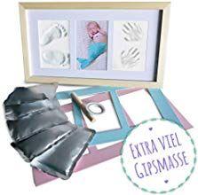 Baby Fu/ß und Handabdruck Set von KARMAstyle I Sichere Anwendung des Baby Abdruckset durch Inkless-Touch-Print I Frei von Farbkontakt I