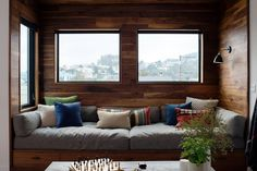 A walnut wrapped cozy built-in living area window seat. Photo 5 of 10 in 10 Cozy Spaces and 15 Products to Help You Get Ready For Fall from Chenery Street Remodel. Small Living Rooms, Living Room Modern, Living Room Designs, Living Area, Small Room Design, Family Room Design, Home Decor Bedroom, Living Room Decor, Apartment Renovation