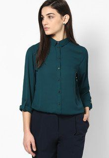 Stylish, Comfort & Well Designed Dorothy Perkins Dark Green Button Rollsleeve women features product specifications, reviews, ratings, images, price chart and more to assist the user