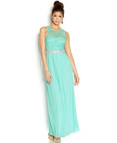 BCX Juniors' Lace-Bodice Gown - Juniors Shop All Prom Dresses - Macy's