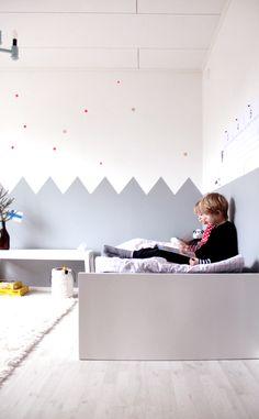 Kids room - Painted zig zag wall - Kotipalapeli