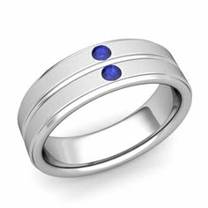 Customized flat wedding ring for men with your choice of diamonds or gemstones and matte finish in or white, yellow or rose gold and platinum comfort fit wedding band. Unique Mens Rings, Rings For Men, Diamond Gemstone, Diamond Rings, Wedding Dreams, Dream Wedding, Or Rose, Rose Gold, Custom Comfort