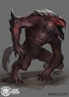 Creature by daemonstar red crimson darkblood ape gorilla mutant monster beast creature animal | Create your own roleplaying game material w/ RPG Bard: www.rpgbard.com | Writing inspiration for Dungeons and Dragons DND D&D Pathfinder PFRPG Warhammer 40k Star Wars Shadowrun Call of Cthulhu Lord of the Rings LoTR + d20 fantasy science fiction scifi horror design | Not Trusty Sword art: click artwork for source