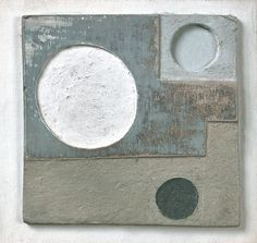 Work of the week: Ben Nicholson, 1934 (relief design), on show in Horizons, Kettle's Yard at Jerwood Gallery, Hastings. 1934 (relief design) is quite roughly worked in thick card, it measures just 8x8cm. It shows Ben Nicholson beginning to explore the combination of physical layers with the abstract language of circles and grids. Copyright: Angela Verren Taunt