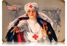 """American Red Cross Poster, """"Have You Answered The Red Cross Christmas Roll Call?"""" Creator: American Red Cross Contributor: Fisher, Harrison, Date: 1918 Can be seen at the Bates Center Trauma, Pin Up, Nurse Art, Vintage Nurse, Vintage Medical, Vintage Ladies, Vintage Metal Signs, Vintage Art, Vintage Images"""