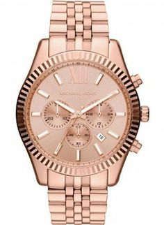 Michael Kors MK 8319 Mens Chronograph Watch, Ruggedized watch in beautiful stainless steel housing, rose gold, stainless steel bracelet, polished. Michael Kors Schmuck, Bijoux Michael Kors, Michael Kors Watch, Michael Rose, Oversized Watches, Swiss Watch Brands, Rose Gold Watches, Victoria Secrets, Rose Gold Jewelry