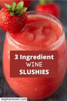 Frozen Drink Recipes, Alcohol Drink Recipes, Frozen Drinks, Slushy Alcohol Drinks, Milkshake Recipes, Wine Slushie Recipe, Wine Slushies, Dessert Drinks, Wine Drinks