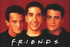 The men from Friends! Chandler, Ross & Joey from Friends Friends Tv Show, Joey Friends, Friends Cast, Friends In Love, Most Popular Tv Shows, Great Tv Shows, Best Shows Ever, Favorite Tv Shows, Favorite Things