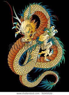 Japanese style dragon illustration,\nI designed an Oriental dragon,\nA vector work,\n , Dragon Tattoo Forearm, Dragon Tattoo Drawing, Asian Dragon Tattoo, Chinese Dragon Art, Japanese Dragon, Japanese Art, Japanese Style, Atrapasueños Tattoo, Tattoos