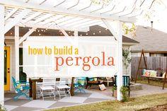 How to Build a Pergola {via @Ashley Walters Mills {the handmade home} }