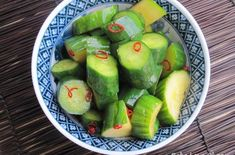 Kyuri Tsukemono (Cucumber Pickles) | These tasty Japanese pickles are easy to make and are the perfect snack or side dish to any meal. #japaneseDishes