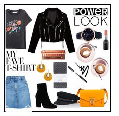 """""""Tshirt look 😊"""" by annabalint16 on Polyvore featuring Chico's, Nobody Denim, Proenza Schouler, The Kooples, Lola, Panacea, Bobbi Brown Cosmetics, Urban Decay, Frédérique Constant and springlook"""