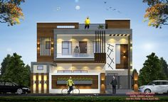 House Front Wall Design, House Outside Design, House Gate Design, Village House Design, Duplex House Design, Modern Small House Design, Modern Exterior House Designs, Morden House, 3 Storey House Design