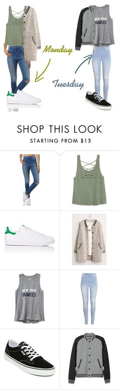 """""""Zoe Parker •3"""" by maja-bialkowski on Polyvore featuring Wrangler, adidas, Old Navy, H&M, Vans and L.L.Bean"""