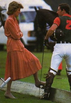 June 20, 1985: Princess Diana and Prince Charles at Guards Polo Club, Smiths Lawn, Windsor.