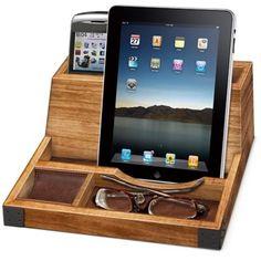 Smart Phone/Tablet Wood Charging Valet - BedBathandBeyond.com