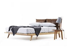 Markus are upholstered beds designed and made in Australia by Studio Pip. The design features 2 padded cushions that act as a bedhead. Upholstered Beds, Bed Head, Bed Design, Cushions, Bedroom, Furniture, Home Decor, Throw Pillows, Toss Pillows