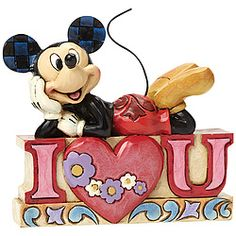 "Say I ""Heart"" You with a little help from Mickey Mouse and Jim Shore!"