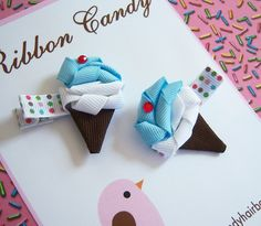 Mini Scoop - Ice Cream Hair Clips by Ribbon Candy by Ribbon Candy, via Flickr