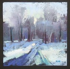 A Fun New Paper to Try Abstract Winter Landscape, painting by artist Karen Margulis