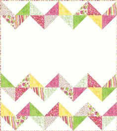 "New pattern:  ""Ziggy Baby""  Easy peasy baby quilt. Pattern available from our babs 'n' jas designs Craftsy store."