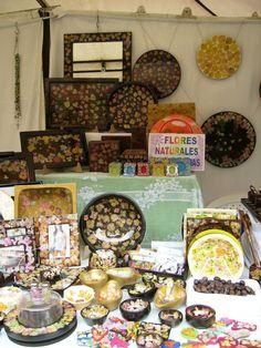 Flores Naturales Deshidratadas  Bateas individuales, portavasos, tablas para queso, bandejas, fruteros, ensaladeras, etc
