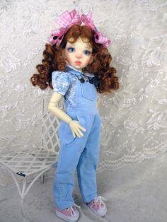 Corduroy Overalls ft Kaye Wiggs. Mei Mei, Talyssa.  Little Charmers Doll Designs