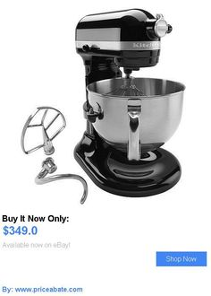 appliances: Brand-New Sealed Kitchenaid Pro 600 Professional 6Qt Stand Mixer Black Kp26m1x BUY IT NOW ONLY: $349.0 #priceabateappliances OR #priceabate
