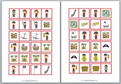 Preschool Pirate Theme, Pirate Activities, Activities For Kids, Speech Language Therapy, Speech And Language, Elementary Spanish, Elementary Schools, Jack Le Pirate, Dominos